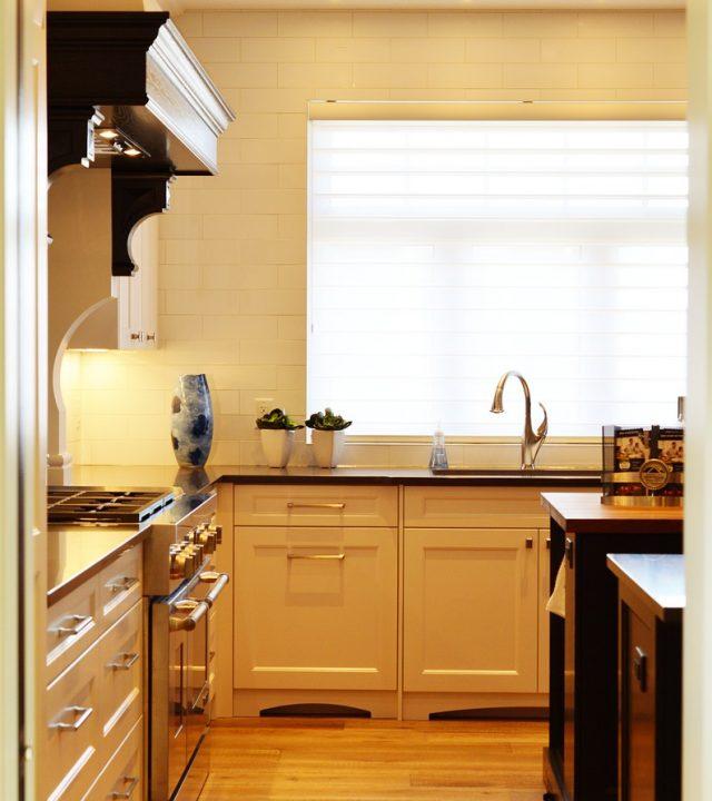 kitchen, counter, stove